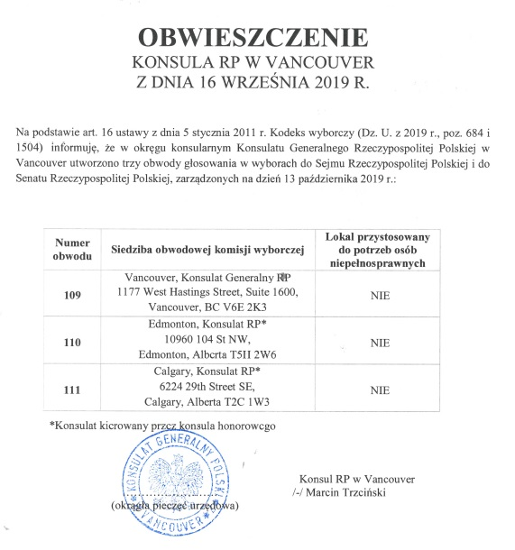 Wybory do Sejmu i Senatu RP 2019