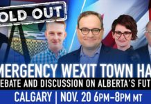 Emergency Wexit Town Hall meeting in Calgary