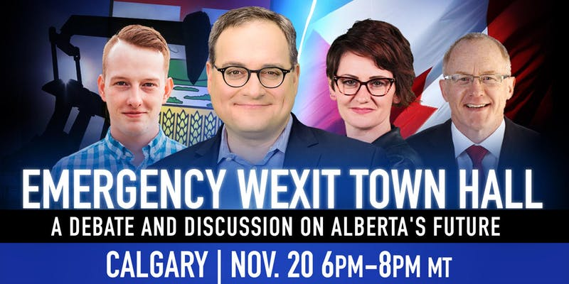 Wexit Town Hall Calgary poster