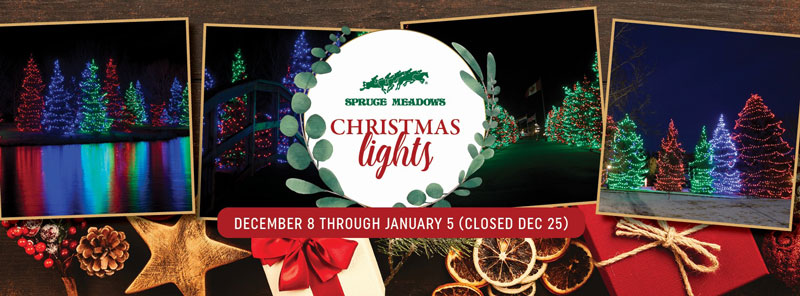 Spruce Meadows Christmas lights event