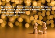Życzenia świąteczne na Boże Narodzenie i Nowy Rok 2020