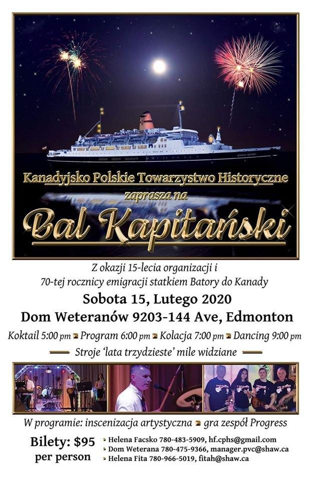 Bal Kapitanski Polonia Edmonton Poster