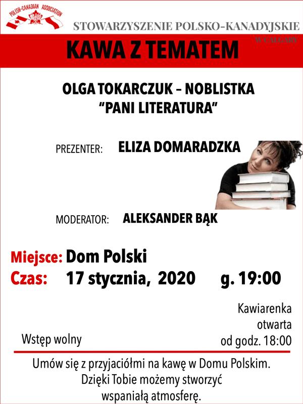kawa z tematem w Domu Polskim Calgary poster