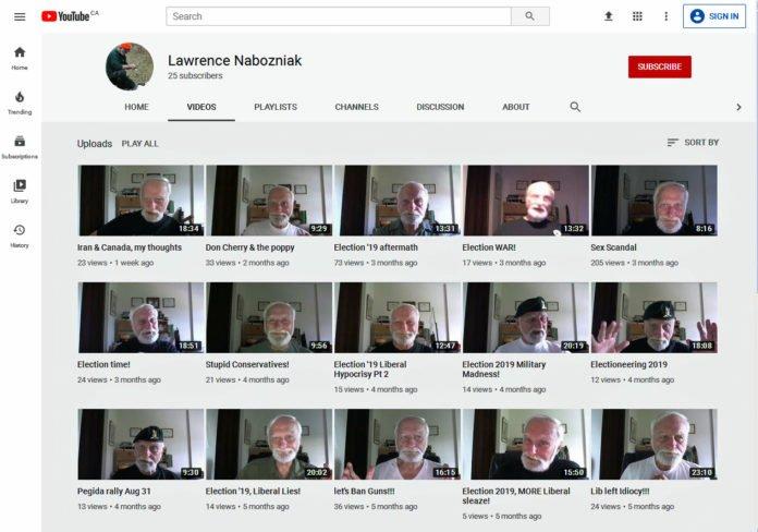 Lawrence Nabozniak youtube channel