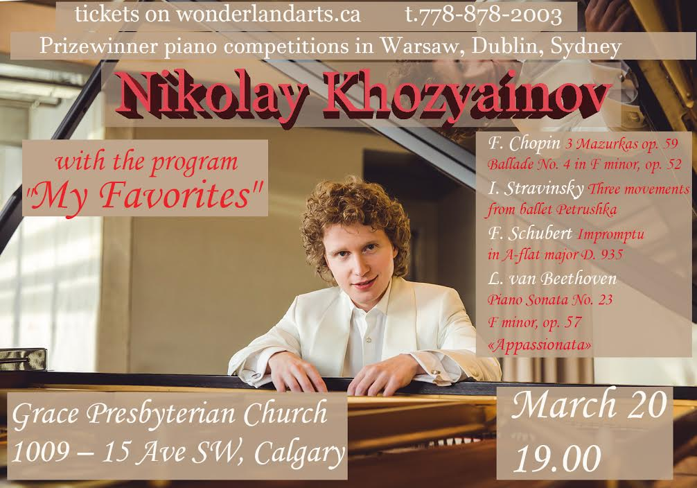 Nikolay Khozyainov Koncert Calgary poster
