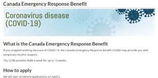 CERB - Canada Emergency Response Benefit