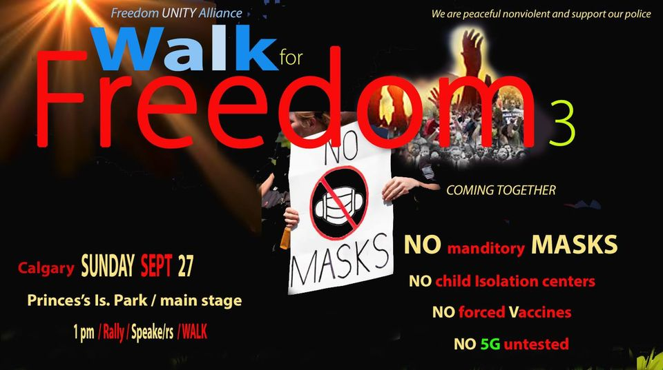 WALK for FREEDOM Calgary 2020 poster