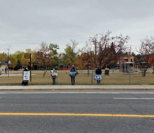 Pro Life Protesters Calgary 2020
