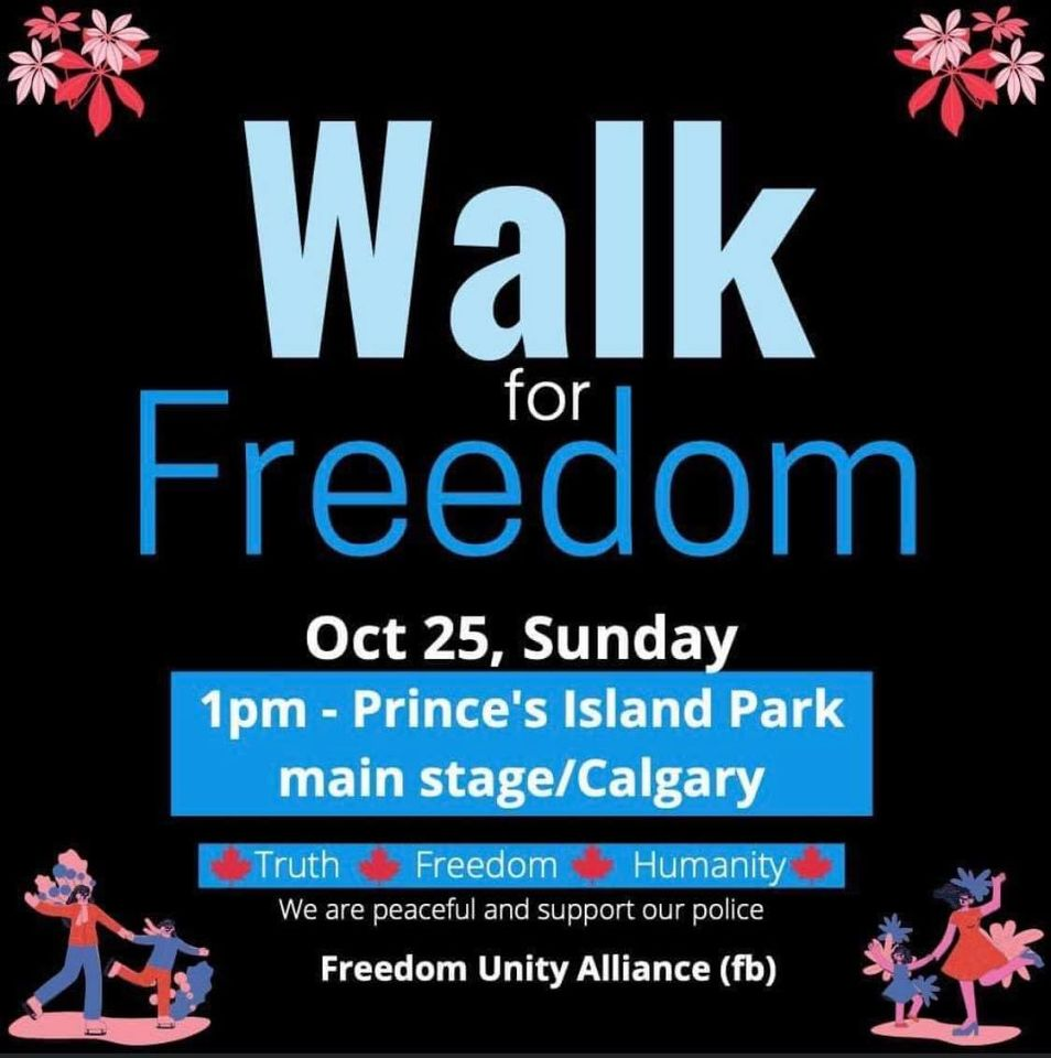 Walk for freedom Calgary 2020