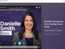 Danielle Smith z QR77 rezygnuje z talk show.