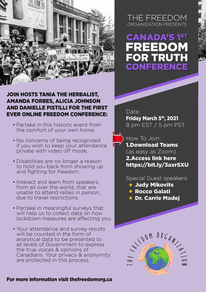 The Freedom For Truth Conference poster
