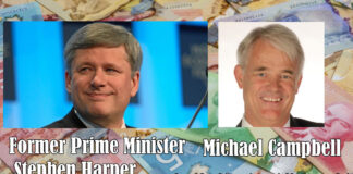 Stephen Harper and Michael Campbell
