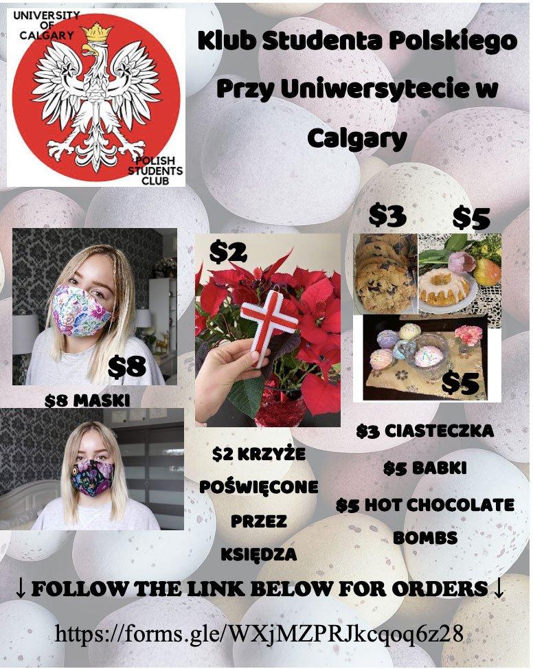 Klub Studenta Polskiego Przy Uniwersytecie w Calgary easter Sale poster