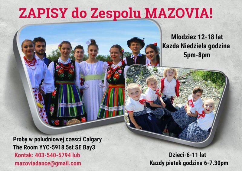 Zespół Mazovia zaprasza poster