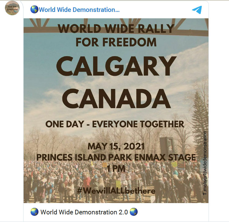 World Wide Demonstration Walk for Freedom Calgary