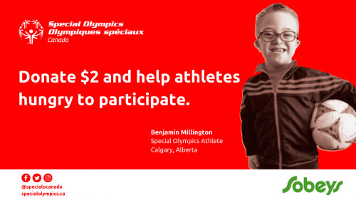 Sobeys Special Olympics Canada Banner