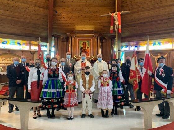 Święto Flagi 2021 Parafia Matki Bożej Królowej Pokoju Calgary 1