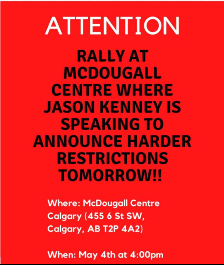 Anti-Lockdown Rally Calgary