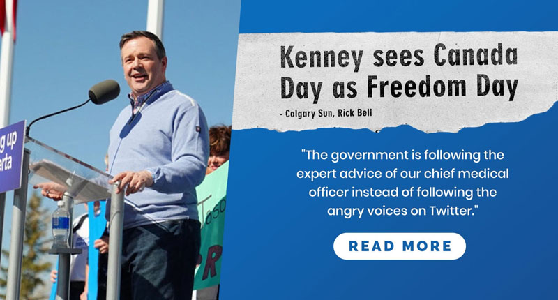 This year, Kenney sees Canada Day as Freedom Day.