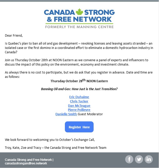 The Canada Strong and Free Network webinar